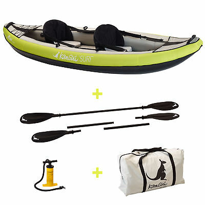 Canoë Kayak gonflable MAUI 1 à 2 places + pagaie + sac transport + pompe double