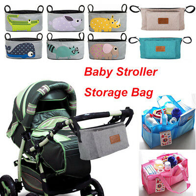 Baby Stroller Pram Organizer Bag Pushchair Travel Storage Bag Diaper Holder