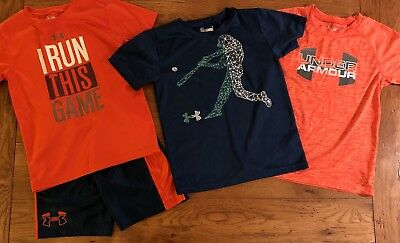 Boys Size 6/7 Under Armour Heatgear summer lot