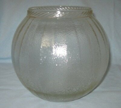 Large Antique Vintage c.1920's Sellers Hoosier Round Glass Rope Top Canister Jar