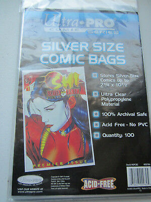Ultra Pro Silver Size Comic Bags and BCW Silver Comic Book Boards 100 of Each