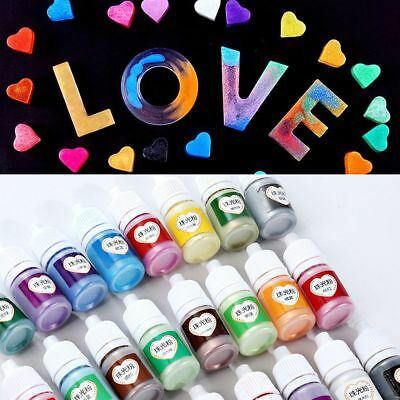 24-Colour 5ml Crafts Pigment Powder UV Resin Epoxy Rainbow Pearlescent Mica