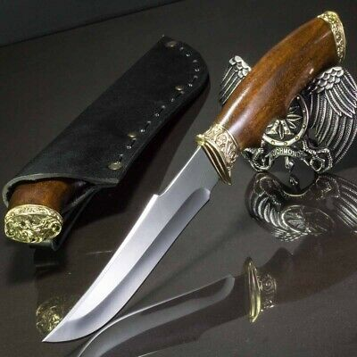 11.50in WOLF CUSTOM HANDMADE KNIFE HUNTING A.