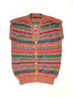 MISSONI!!! 1970s 'Missoni' knitted sleeveless vest with multicoloured stripes