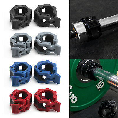 "1 Pair Olympic 2"" Spinlock Collars Barbell Dumbbell Clips Clamp Weight Bar Locks"