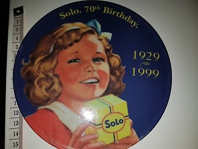 Solo. 70Th Birthday Plate