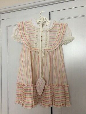 Vintage 1980s Girls Dress With Purse - Size 4