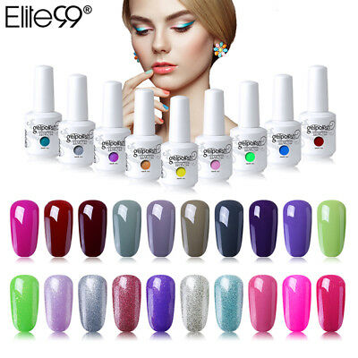 Elite99 Esmalte Semipermanente de Uñas en Gel UV LED Soakoff Top y Coat Base