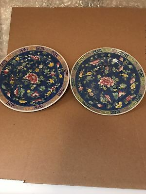 9.6'' twin famille rose porcelain plates.with flower