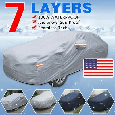 Full Car Cover Waterproof Breathable Outdoor Sun UV Snow Heat Rain Resistant MA