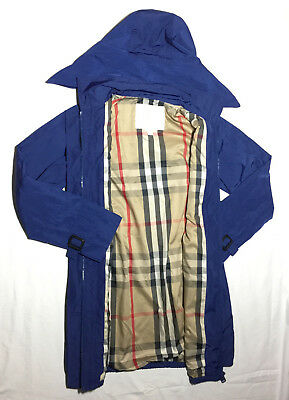 Burberry Children Blue Hooded Coat Size 12 years or 152cm