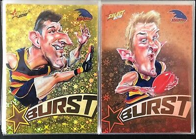 AFL Select 2018 Star Burst Yellow/Orange Bulk listing pick your card