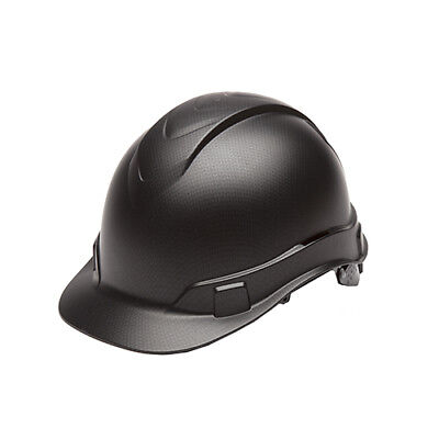 Pyramex Safety HP44117 Ridgeline Black Graphite 4 Point Ratchet Cap Hard Hat