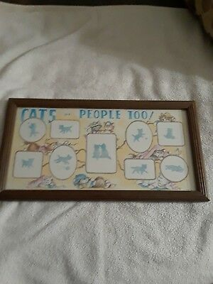 "Picture Frame of Cats, rectangular shape, width 17"" & length 9"""
