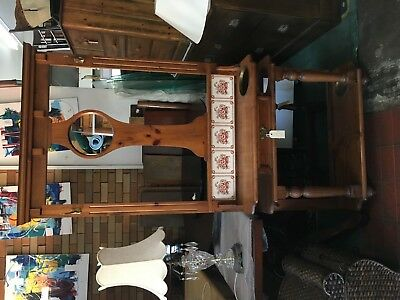 Hallstand with Mirror and Tiles - 373269