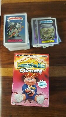 garbage pail chrome series 1 full base set including lost set 110 cards plus...