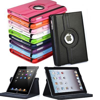 """360 Rotating Folio Stand Smart Leather Case Cover For Apple iPad 9.7"""" iPad 2 3 4"""