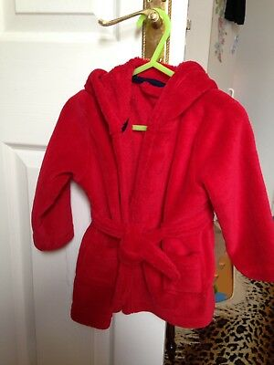Boys Girls Dressing Gown Red Age 12-18 Months