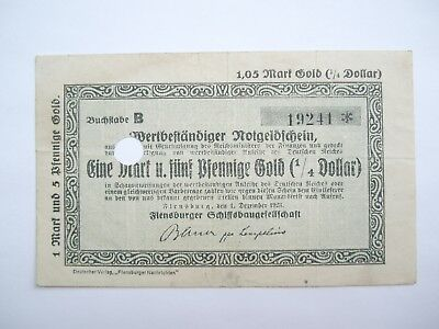 Flensburg  1,05 Mark Gold  1.12.1923