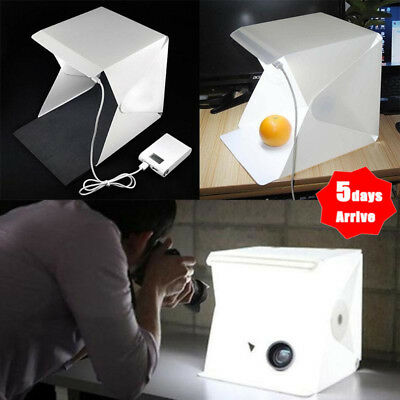 Mini Photo Studio Light Box Photography Backdrop LED Lightroom Portable Light US