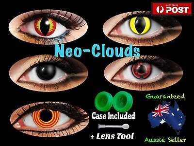 Various Coloured Lenses Color Contact Eyes Cat Cosplay ( Free Lens Case ) Eye AU