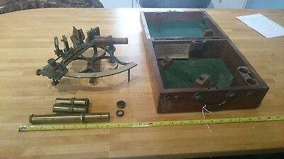 """Antique Victorian Ships Sextant Signed  """"BRYANT BIGGS, CARDIFF"""""""