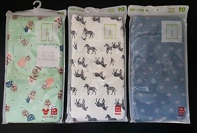 3 x UNIQLO UNI QLO Baby Toddler Cropped Leggings Size 90cm (Size 2)
