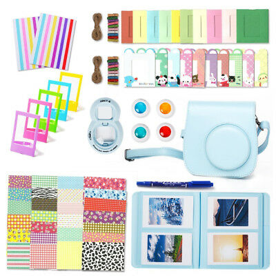 9 in 1 Camera Accessories Bundles Set for Fujifilm Instax Mini 8 9 Blue Case UK