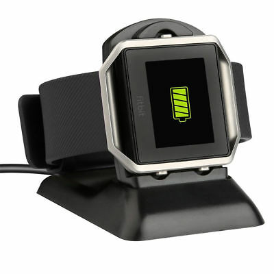 USB Charging Cradle Cable Dock Station Holder Charger For Fitbit Blaze Watch New