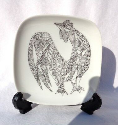 ROSENTHAL. authentic vintage trinket/ ring dish with Cockeral/ Rooster. MINT !!!