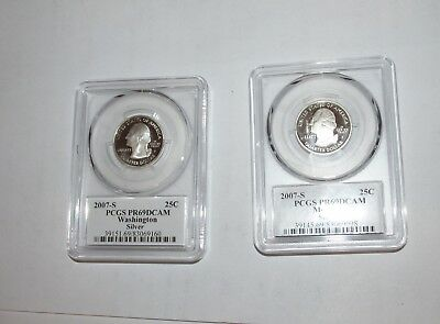 Silver PCGS State Quarters  PR69DCAM  2007 S See Picture for States.........4986