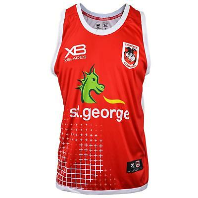 XBlades St George Dragons 2018 Training Singlet - Red