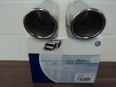 Cover for VW Muffler 3C8071910 Double Pipe Chrome Plated for 2.99in Dia