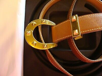 Hermes belt with box and ribbon