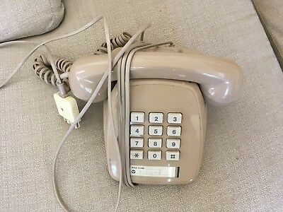 OLD BEIGE to BROWN TELEPHONE STAMPED JANUARY 1986 in EXCELLENT WORKING ORDER