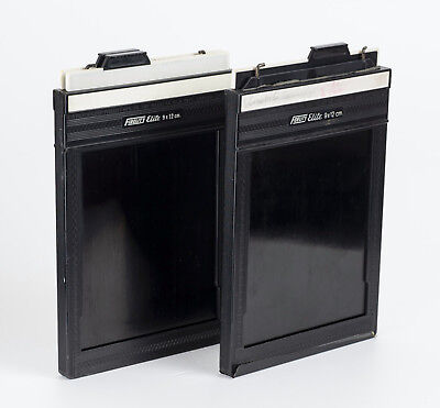 2x Fidelity Elite Planfilmkassette 4x5 inch 9x12 cm Sheet Film Holder