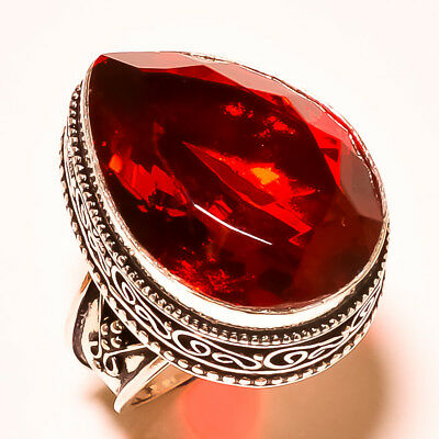 """Mozambique Garnet Lovable With Vintage Design 925 Silver Ring Size -6.50"""""""