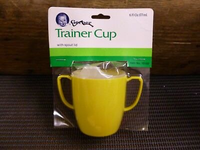 Vintage Gerber Trainer Cup With Spout Lid - YELLOW (6 fL oz) (177ml)1986*BN
