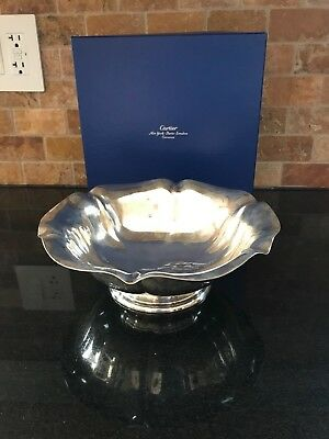 Cartier Sterling Silver Scalloped 10 inch Bowl