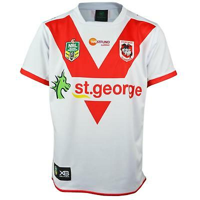 XBlades St George Dragons 2018 NRL Rugby Jersey - White and Red