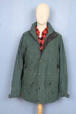 Barbour WASHABLE Fulbourne Green English Cotton Blend Barn Coat Jacket Sz XL