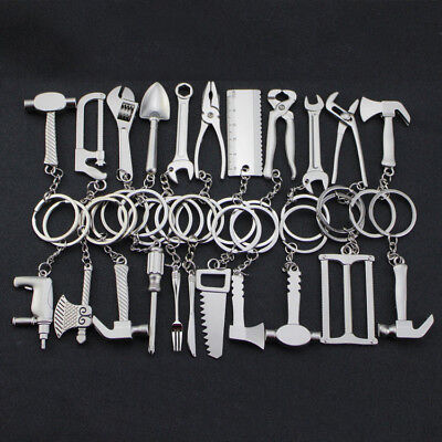 1X Metal Spanner Axe Mini Tools Key Chain Ring Creative Tool Keyring 22 Styles