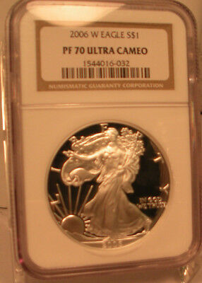 2006 W $1 Silver American Eagle Dollar Coin Ngc Pf70 Ucam United States Perfect