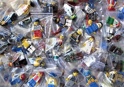 LEGO Minifigures from Huge Lot Bulk 10 Minifigs City Town Pirates Girl Boy NEW!