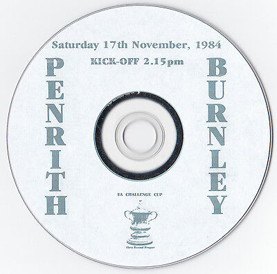 Penrith v Burnley DVD, FA Cup 1st round, 1984 - Burnley won 9-0