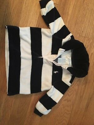 RALPH LAUREN Boy Collared Polo Shirt Size 3 Months. Blue And White Striped