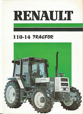 Renault 110-14 Tractor Single A4 leaflet