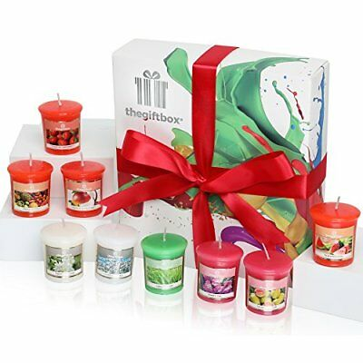 A Luxurious Scented Candle Gift Set by The Gift Box Containing 9 ...