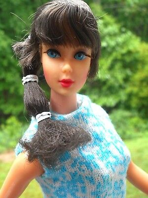 Vintage TALKING BARBIE HEAD TNT BODY IN GLAMOUR GROUP DRESS JC PENNEY BOOTS