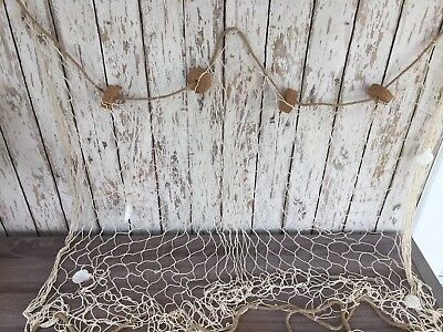3'x5' Decorative Fish Net w/ Shells & Cork Floats ~ Luau Party ~ Nautical Theme